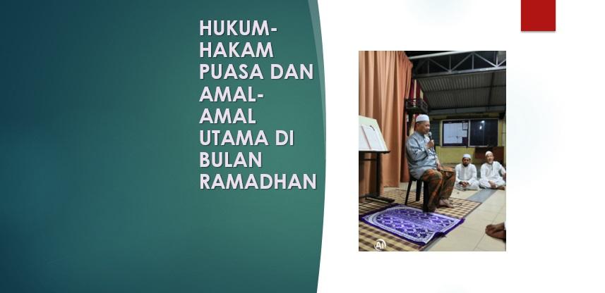 Photo of Hukum-Hakam Puasa Dan Amal-Amal Utama Di Bulan Ramadhan